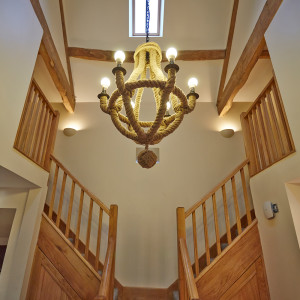 Original wooden beam features