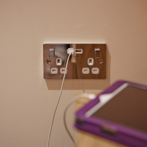 Power socket with USB charger