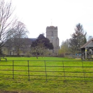 Kingsland church and village green